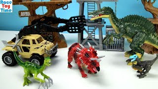 Animal Planet Spinosaurus Tower Adventure Playset - Learn Dinosaur Names Toys For Kids