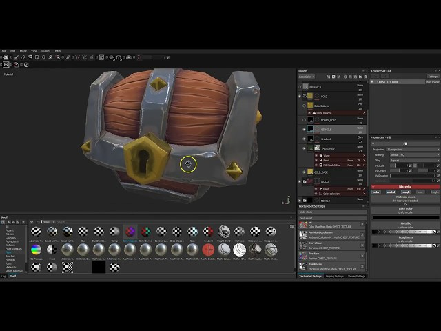04 Stylised Texturing in Substance Painter: Gold (sort of)