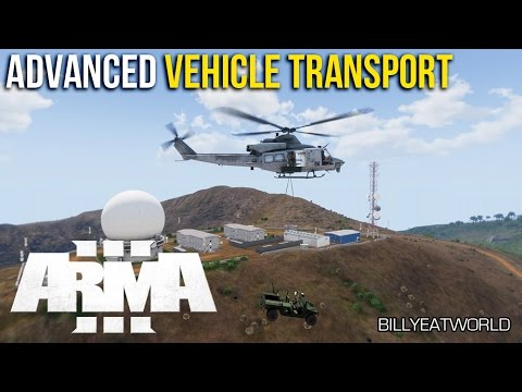 ARMA 3 - Advanced Vehicle Transport - ALIVE Slingloading & VIV (Full Mission)