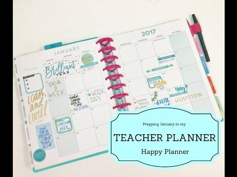 January Prep in my Teacher Happy Planner®