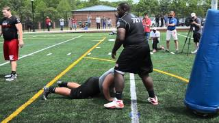 Atlanta Nike Football Training Camp OL-DL One-on-ones