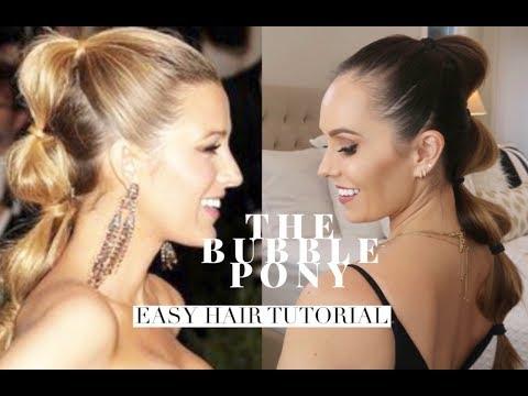 Easy Bubble Ponytail|Blake Lively Inspired Hair Tutorial