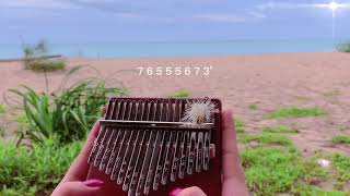 Tegami - angela aki relaxing ver (kalimba cover) with easy tabs for beginners