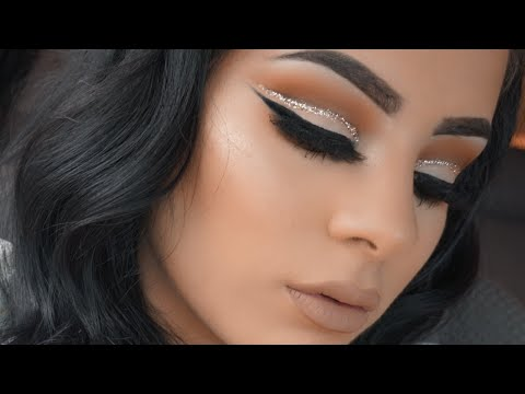 Glitter Cut Crease Eyeshadow Tutorial for Beginners