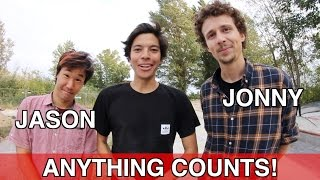 ANYTHING ON FLATGROUND COUNTS | S.K.A.T.E JASON PARK VS JONNY GIGER