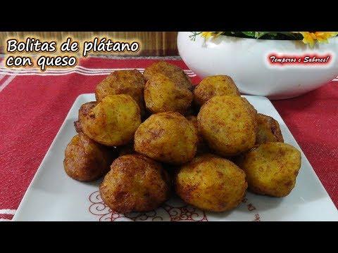 BOLITAS DE PLÁTANO CON QUESO receta venezolana, súper ricas