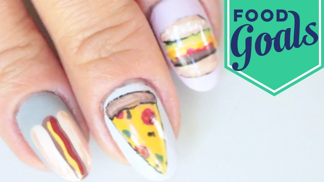 10 Junk Food Nail Art Designs | Food Network - YouTube