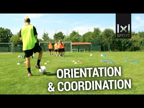 Innovative Football/ Soccer Drill: Improve Orientation, Coordination & Adaptation