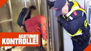 Würgereiz bei Sicherheitsleuten: Obdachlose nutzen Aufzug als Umkleidekabine! | Achtung Kontrolle