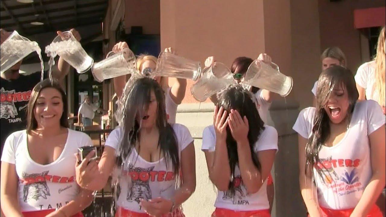 Channelside Hooters Als Ice Bucket Challenge Youtube
