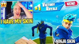 Ninja *USES* His Fortnite Ninja Skin For The First Time!!
