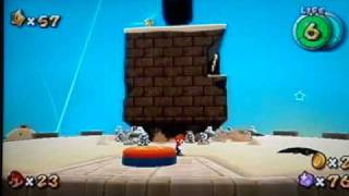 Super Mario Galaxy Walkthrough: Dusty Dune Galaxy Secret Star - Bullet Bill on Your Back
