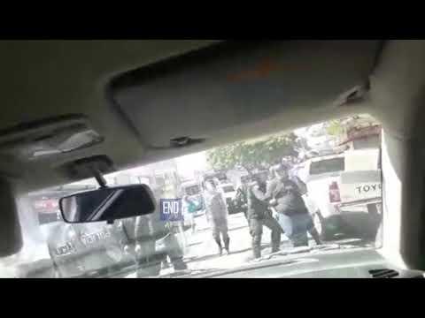 Policía de Nicaragua agrede a periodistas en plaza el sol, Managua
