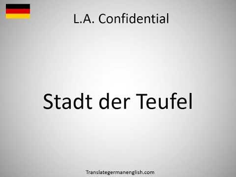 Confidential Deutsch