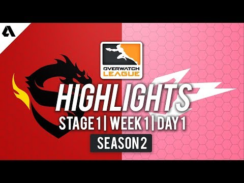 Shanghai Dragons vs Hangzhou Spark | Overwatch League S2 Highlights - Stage 1 Week 1 Day 1