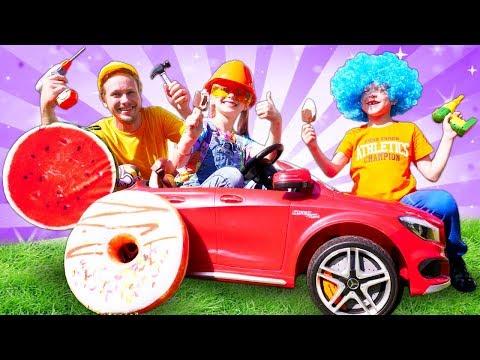 Играем в автосервис. Супер дети чинят машины. Видео для детей.