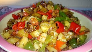 Stir Fry Potatoes Recipe: How To Make Stir Fry Potatoes And Vegetables | Breakfa