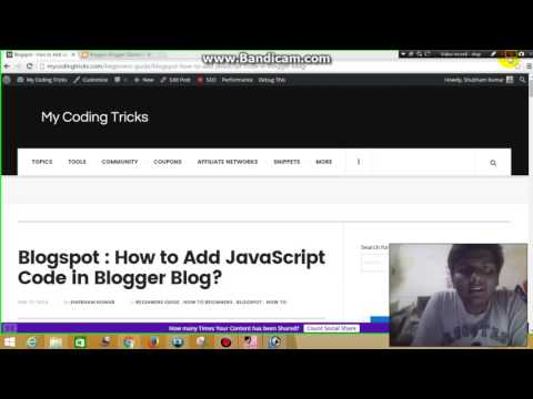 How to add JavaScript Code in Blogger Blog
