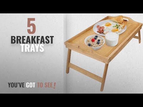 Top 10 Breakfast Trays [2018]: Greenco Bamboo Foldable Breakfast Table, Laptop Desk, Bed Table,
