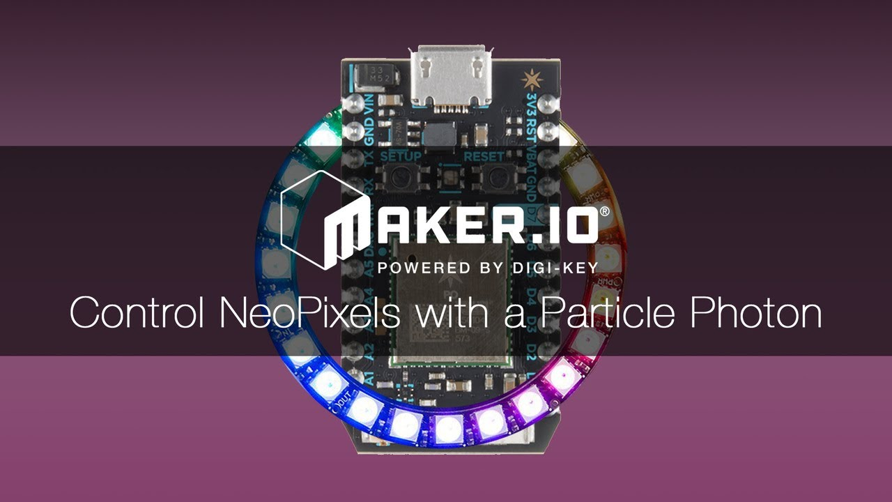 How to Control NeoPixels with a Particle Photon