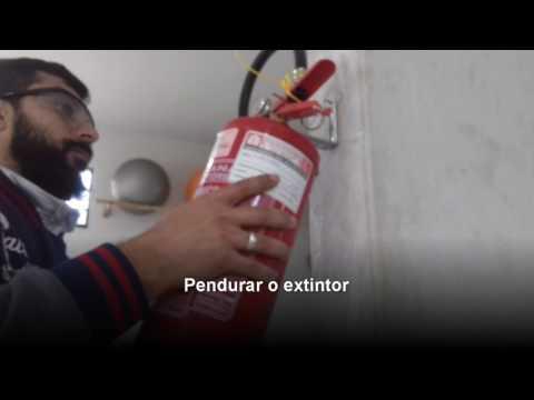 Medidas técnicas e instalação de extintores