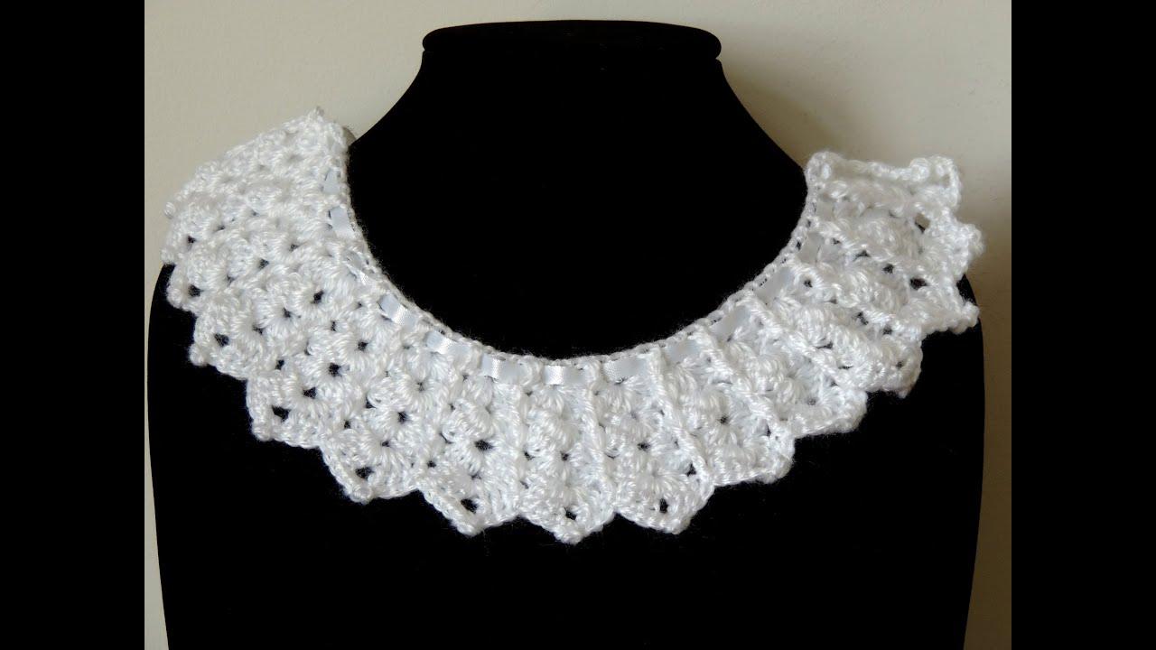 Crochet : Borde Cuello # 1 - YouTube