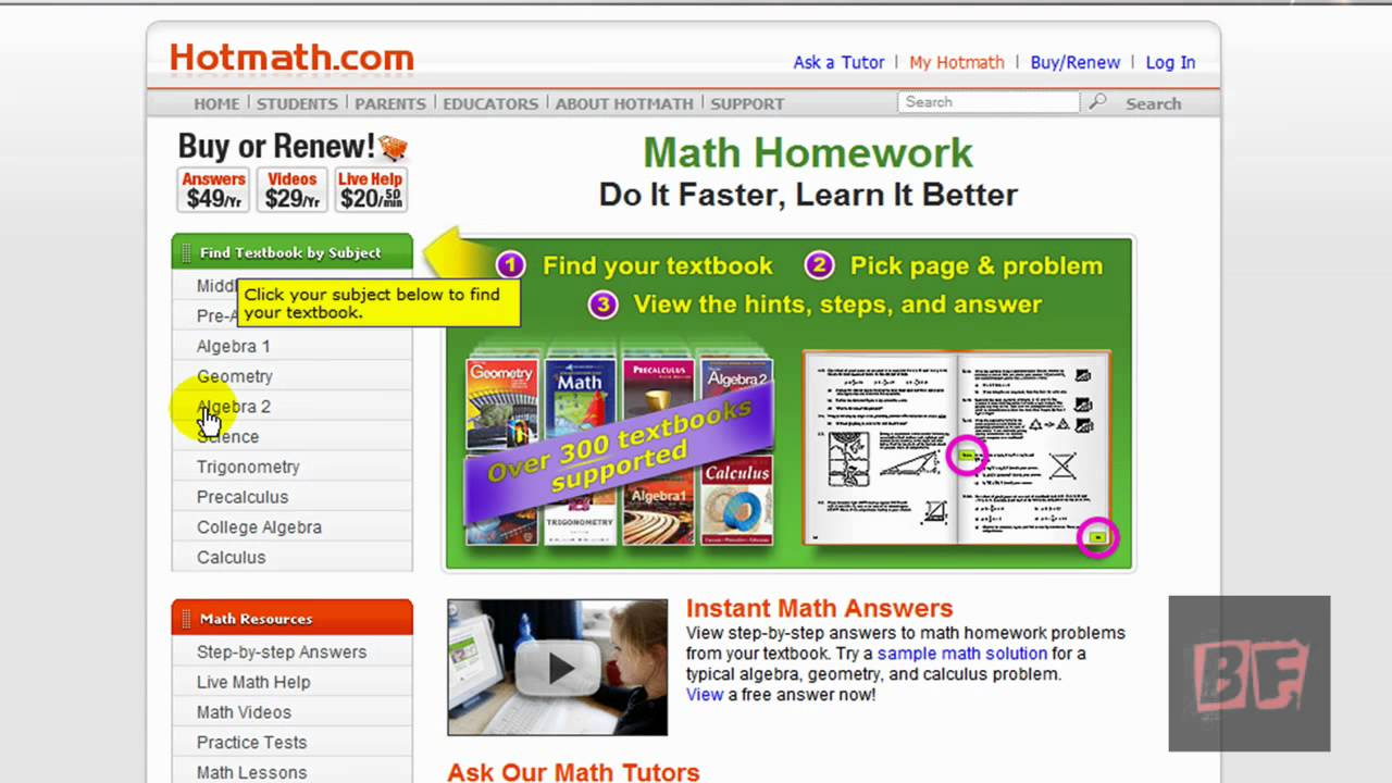 math homework help free answers