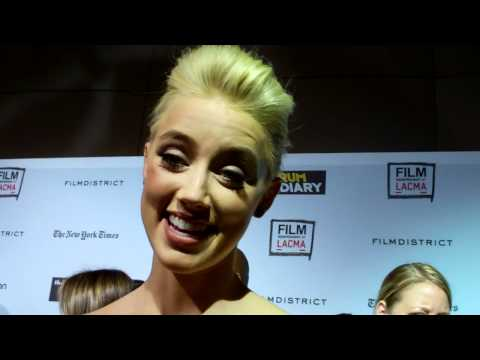"Amber Heard at ""The Rum Diary"" premiere"