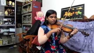 Violin cover Kanna nee thoongada Bahubali by Abha Trivandrum. Prabhas, Rajamouli, Keeravani Vani