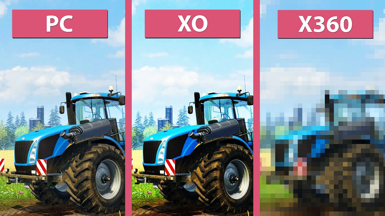 Farming Simulator 15 – PC Max vs  Xbox One vs  Xbox 360 Graphics Comparison  [60fps][FullHD]
