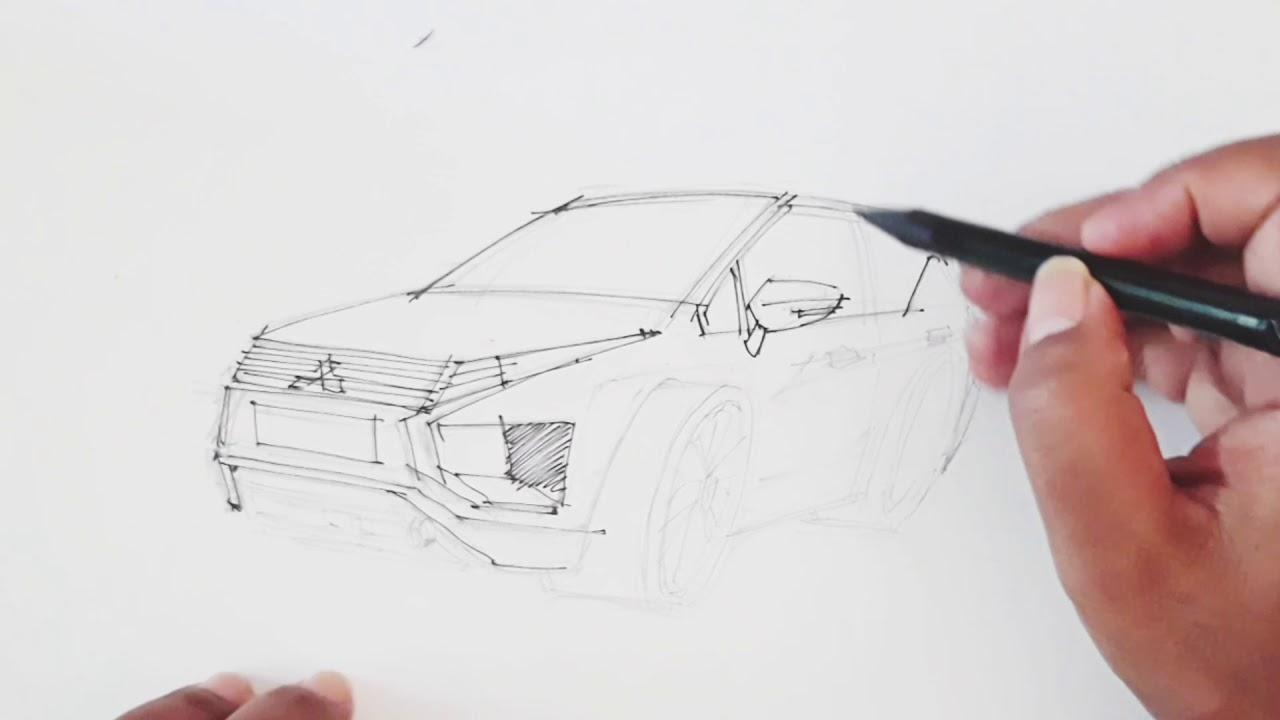 Mitsubishi Xpander Dalam Sketsa Tangan Youtube