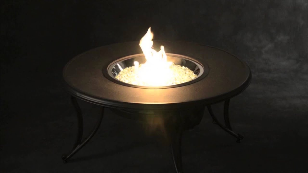 Outdoor Great Room Stonefire Round Fire Pit Table With