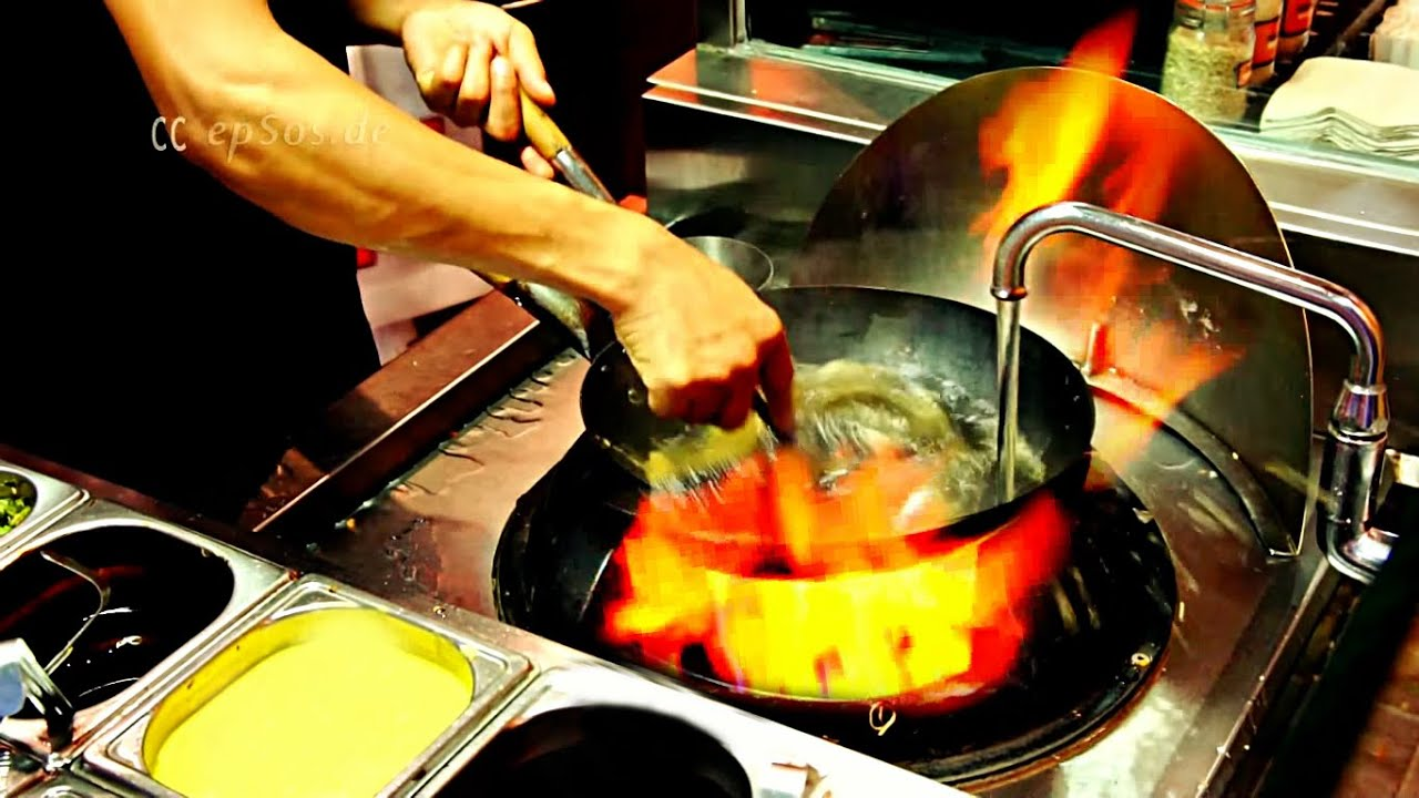 Find A Gas Station >> How to Cook in a Chinese Wok Station. - YouTube