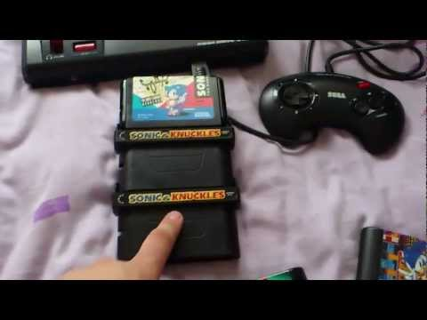 DOUBLE STACKED SONIC AND KUCKLES Two Copies Of Sonic And Knuckles One Megadrive Doublestcked