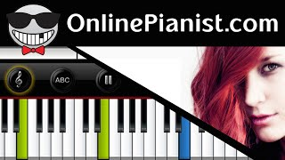 Delain - Come Closer (April Rain Album) - Piano Tutorial (Intermediate)
