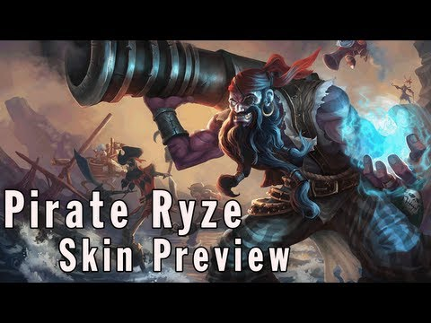 League of Legends Skin Preview - Pirate Ryze [The Harrowing 2012]