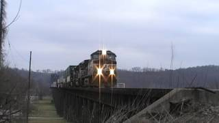 CSX & Norfolk Southern Action At Kenova, West Virginia
