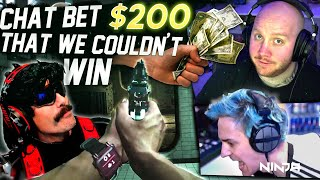 MY CHAT BET $200 THAT WE COULDN'T WIN! CHALLENGE ACCEPTED FT. NINJA, DRDISRESPECT & JORDAN FISHER