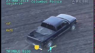 Columbus Police helicopter video of reckless driver in Delaware County