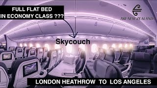 AIR NEW ZEALAND - SKY COUCH   LONDON TO LOS ANGELES   B777   TRIP REPORT