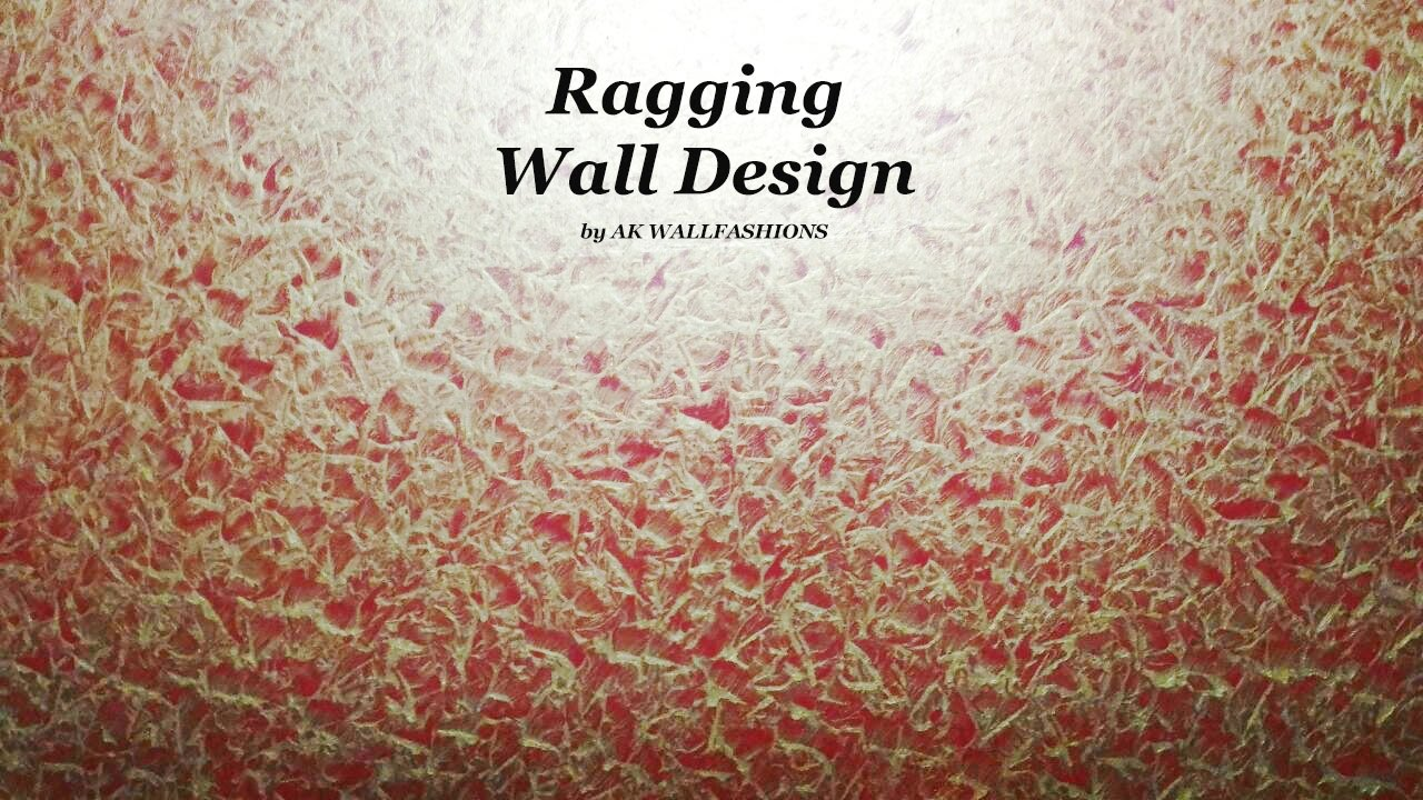 Asian Paints Royale Play Metallics Ragging Wall Design