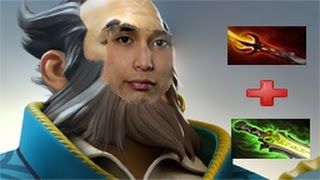 DotA 2 - SingSing (Kunkka) goes for an unorthodox build (dagon, refresher, eul) 85+min game
