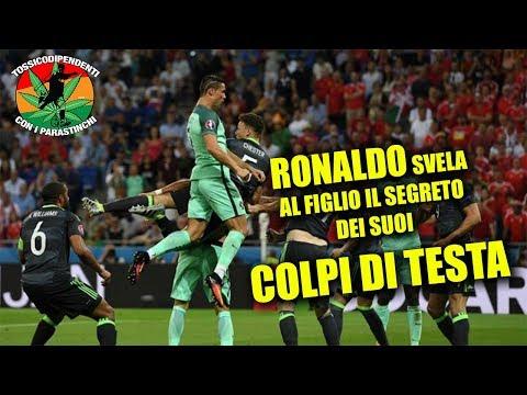 Ronaldo spiega al figlio il segreto dei suoi colpi di testa  #doppiaggicoatti 