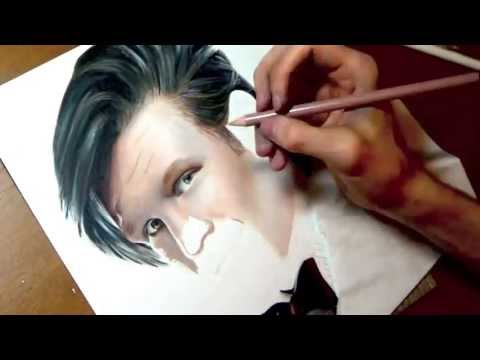Drawing Matt Smith from Doctor Who
