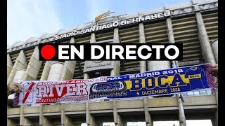 🔴 EN DIRECTO: Las aficiones de River Plate y Boca Júniors colorean Madrid