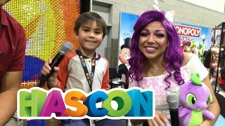 Action Movie Kid visits HASCON | Beyblades, Transformers and NERF - OH MY!