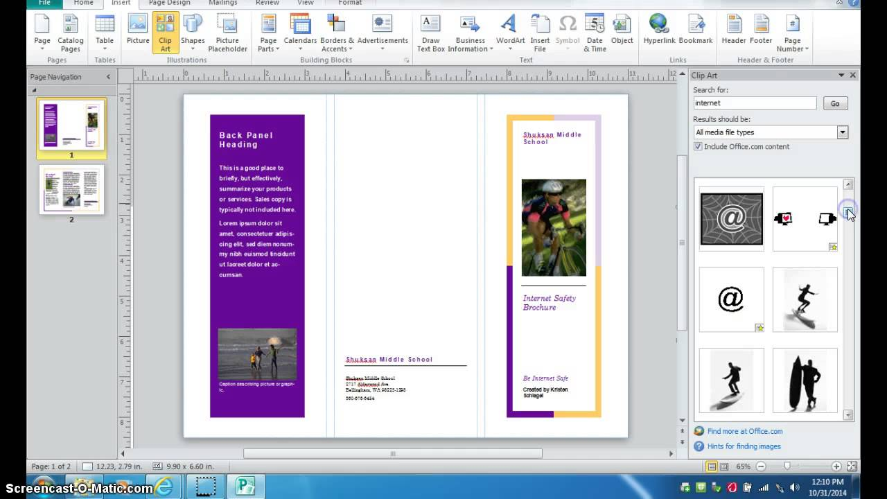 creating a brochure in photoshop