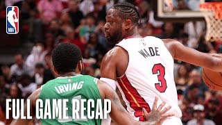 CELTICS vs HEAT | Dwyane Wade & Kyrie Irving Duel In Miami | April 3, 2019