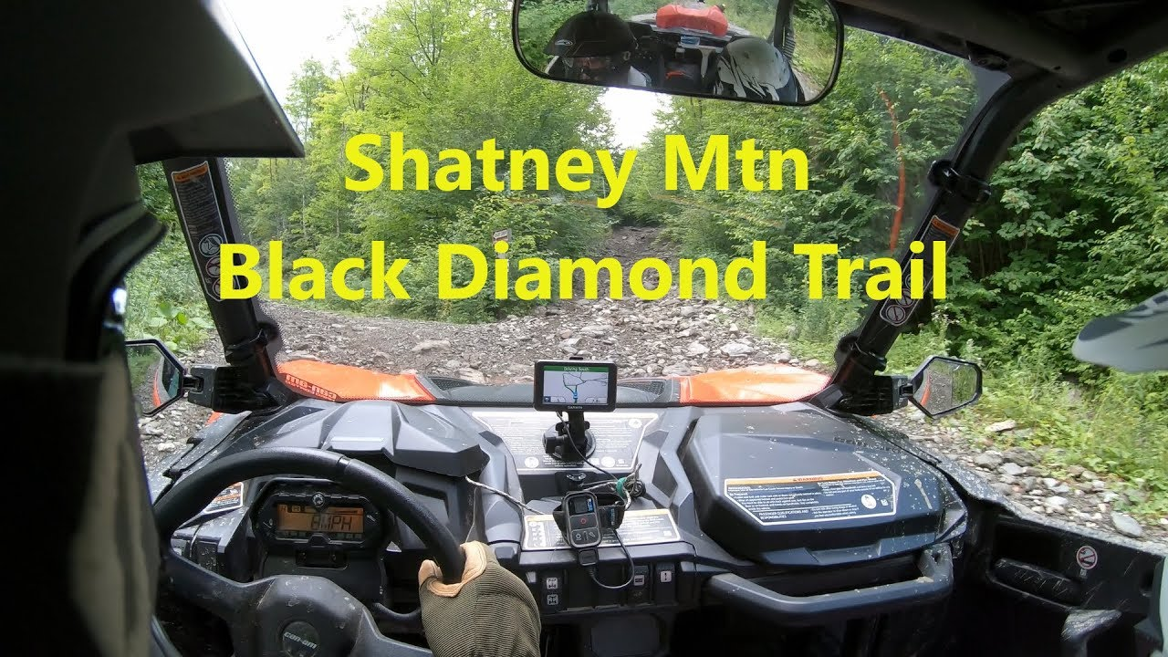 Can Am Maverick Sport 1000 On Shatney Mtn Climbing Steep Rocky Black Diamond Trail Pittsburg Nh