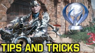 Horizon Zero Dawn tips and tricks for GETTING The PLATINUM TROPHY - FAST XP & All Alies Joined Quest
